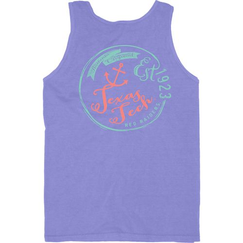 Blue 84 Men's Texas Tech University Overdyed Neon Tank Top