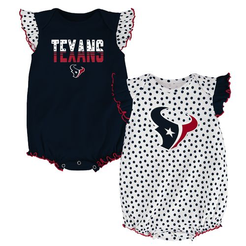 NFL Infants' Houston Texans Polka Fan 2-Piece Creeper Set