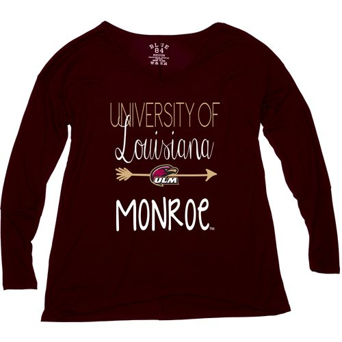 Blue 84 Women's University of Louisiana at Monroe Liquid Jersey Patch Long Sleeve T-shirt