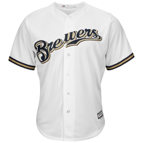 Majestic Men's Milwaukee Brewers Scooter Gennett #2 Cool Base Replica Jersey - view number 3