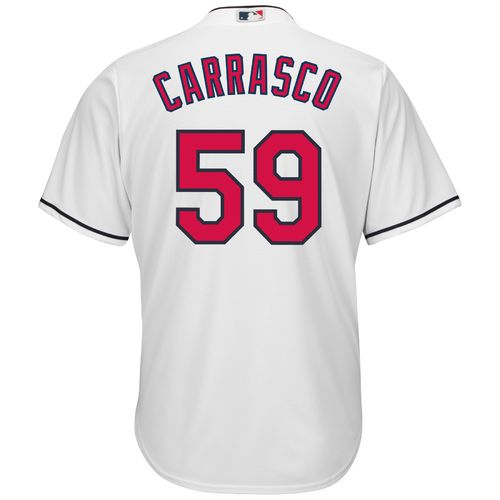 Majestic Men's Cleveland Indians Carlos Carrasco #59 Cool Base Replica Jersey