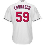 Majestic Men's Cleveland Indians Carlos Carrasco #59 Cool Base Replica Jersey - view number 1