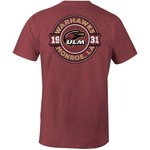 Image One Men's University of Louisiana at Monroe Rounds Comfort Color Short Sleeve T-shirt