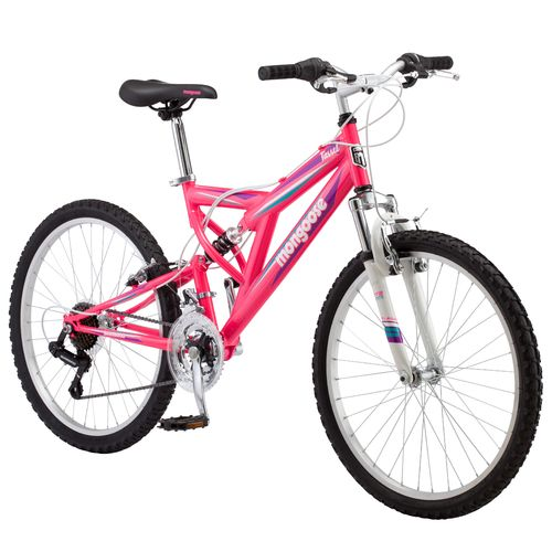 "Mongoose® Girls' Tassel 24"" 21-Speed Mountain Bike"