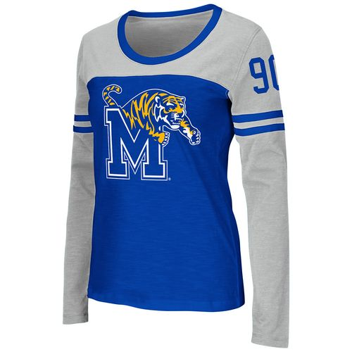 Colosseum Athletics™ Women's University of Memphis Hornet Football Long Sleeve Shirt