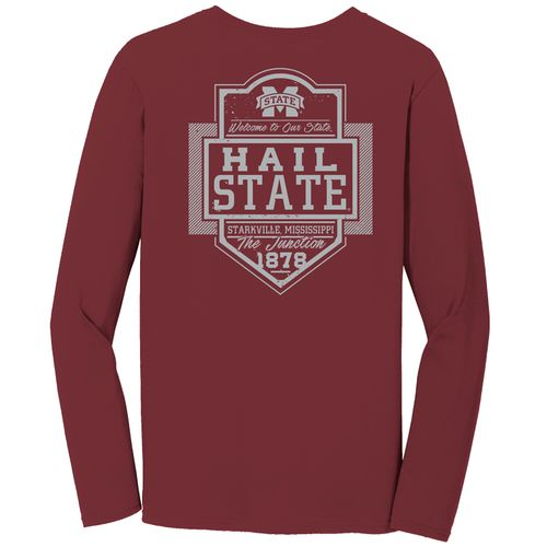 Image One Men's Mississippi State University Finest Shield Comfort Color Long Sleeve T-shirt