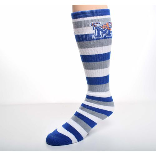 For Bare Feet Men's University of Memphis Pro Stripe Tube Socks