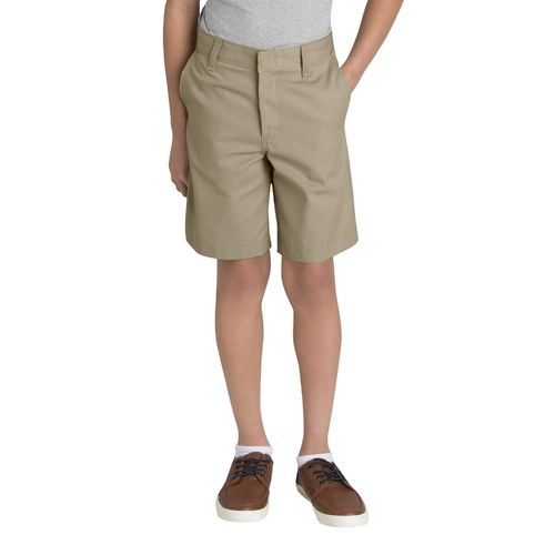 Dickies Boys' Flat Front Husky Uniform Short