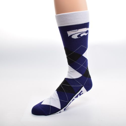 For Bare Feet Unisex Kansas State University Team Pride Flag Top Dress Socks