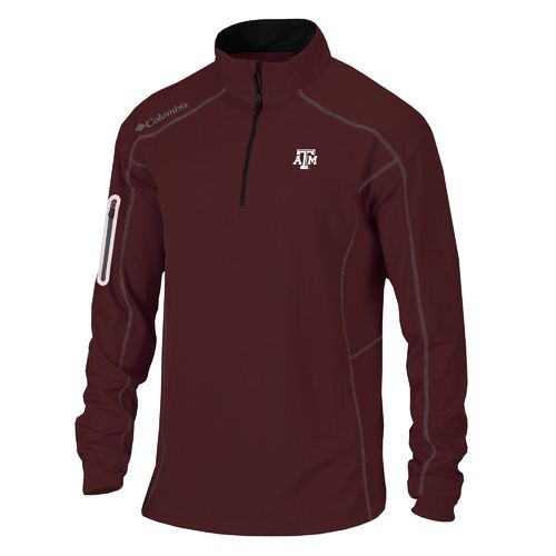 Columbia Sportswear™ Men's Texas A&M University Shotgun 1/4 Zip Pullover