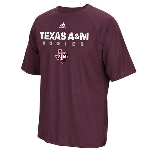 adidas Men's Texas A&M University Sideline climalite T-shirt