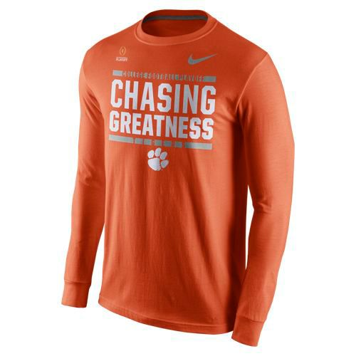 Nike Men's Clemson University 2017 Playoff Bound Chasing Greatness Long Sleeve T-shirt