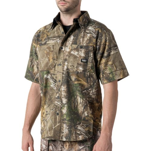 Walls Men's Cape Back Camo Short Sleeve Shirt
