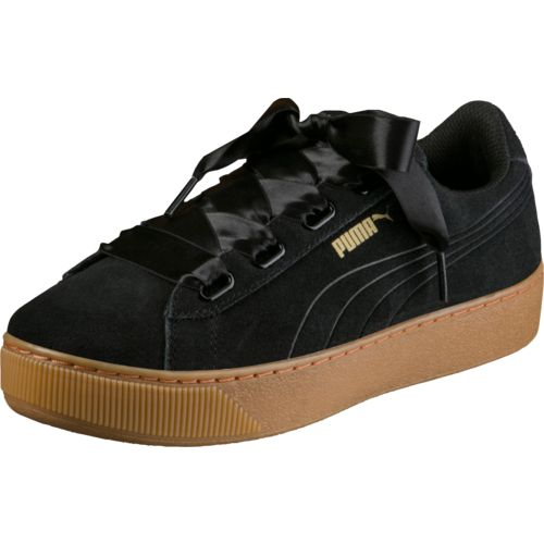PUMA Women's Vikky Platform Ribbon Casual Shoes