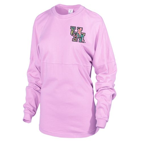 Venley Women's University of Houston Hawaiian Spirit Long Sleeve Football T-shirt - view number 2