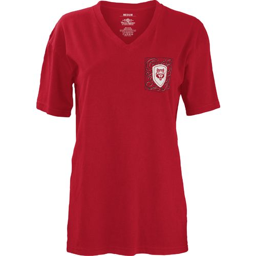 Three Squared Juniors' Arkansas State University Anchor Flourish V-neck T-shirt - view number 2