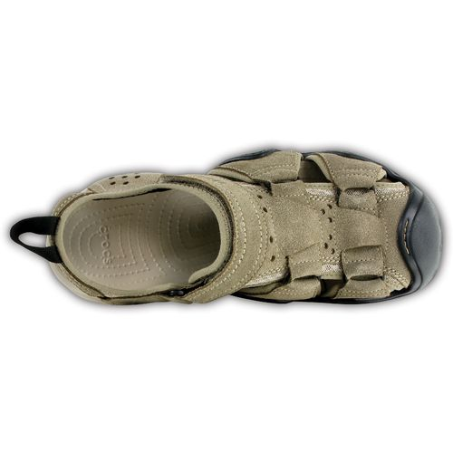 Crocs™ Men's Swiftwater Suede Fisherman Sandals - view number 4