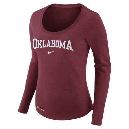 Nike™ Women's University of Oklahoma Dry Slub Long Sleeve T-shirt