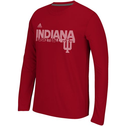 adidas Men's Indiana University Sideline Grind Long Sleeve T-shirt