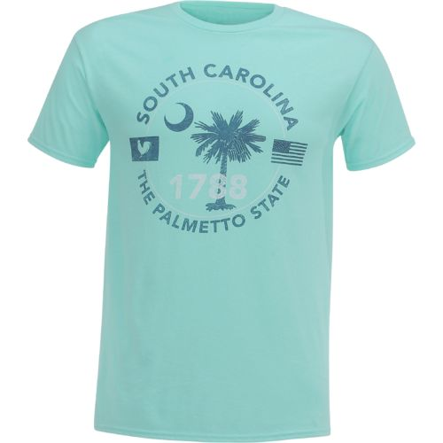 Academy Sports + Outdoors Men's South Carolina Palmetto State Circle T-shirt - view number 1