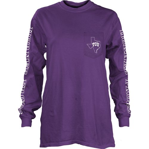 Three Squared Juniors' Texas Christian University Mystic Long Sleeve T-shirt