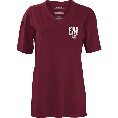 Three Squared Juniors' University of South Carolina Team For Life Short Sleeve V-neck T-shirt - view number 2