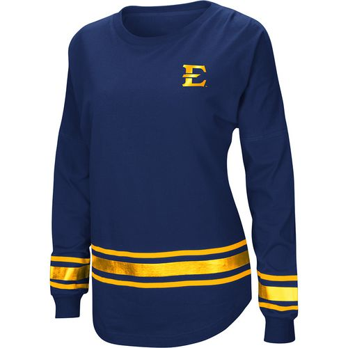 Colosseum Athletics Women's East Tennessee State University Humperdinck Oversize Long Sleeve T-shirt