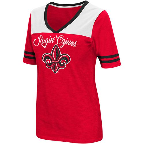 Colosseum Athletics Women's University of Louisiana at Lafayette Twist 2.1 V-Neck T-shirt