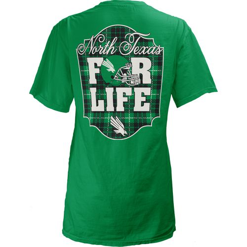 Three Squared Juniors' University of North Texas Team For Life Short Sleeve V-neck T-shirt