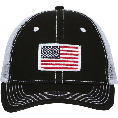 Display product reviews for Academy Sports + Outdoors Men's American Flag Trucker Hat