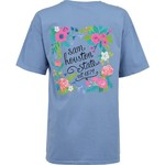 New World Graphics Women's Sam Houston State University Comfort Color Circle Flowers T-shirt - view number 1