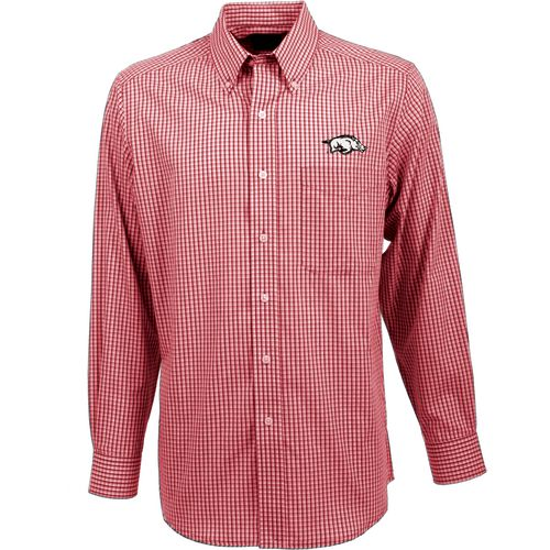 Antigua Men's University of Arkansas Associate Long Sleeve Dress Shirt