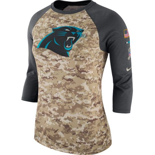 Nike Women's Carolina Panthers Salute To Service '17 Legend Raglan T-shirt