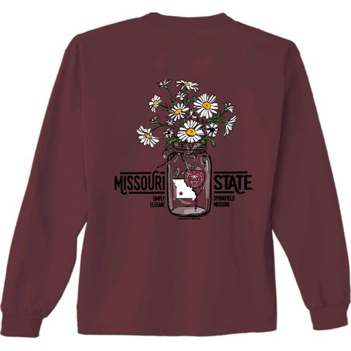 New World Graphics Women's Missouri State University Bouquet Long Sleeve T-shirt