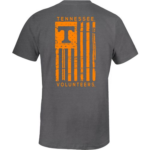 Image One Men's University of Tennessee Comfort Color Distressed Flag T-shirt