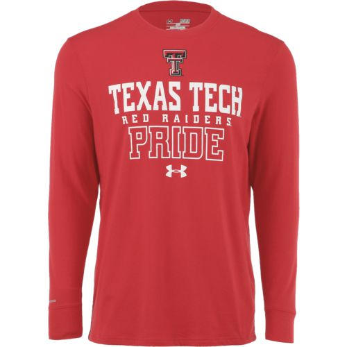 Under Armour Men's Texas Tech University Charged Cotton Long Sleeve T-shirt