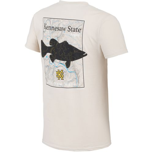 New World Graphics Men's Kennesaw State University Angler Topo Short Sleeve T-shirt