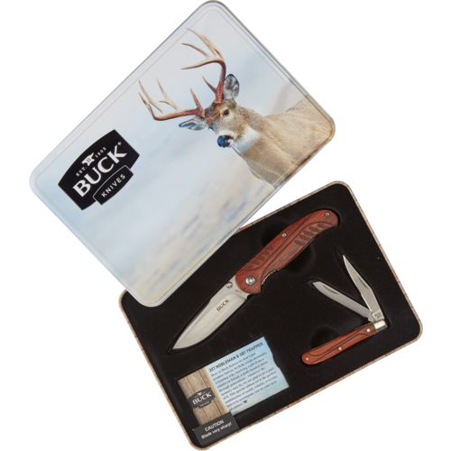 Buck Knives 2-Knife Combo with Holiday Tin