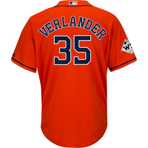 Majestic Men's Astros Verlander Jersey with World Series 17 Patch
