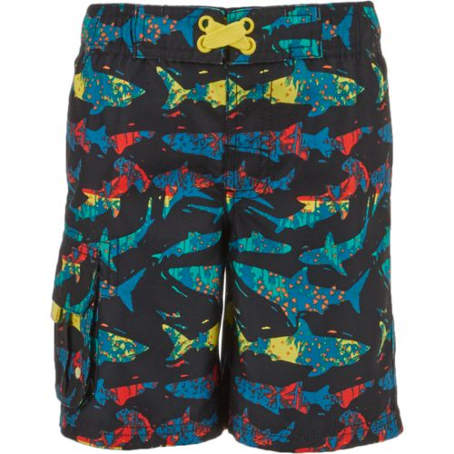 O'Rageous Boys' Palm Shark Printed Boardshorts