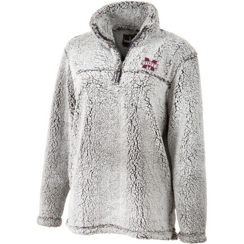 Boxercraft Women's Mississippi State University Sherpa 1/4 Zip Pullover