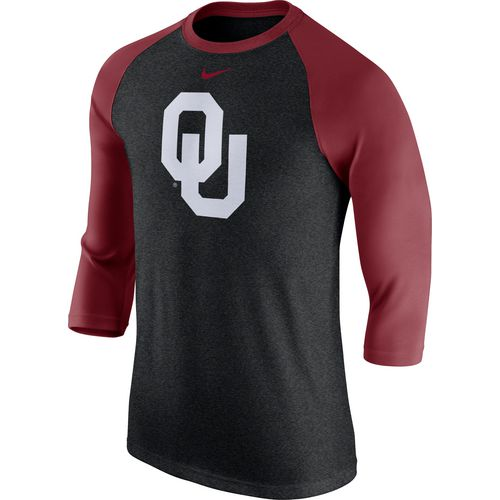 Nike Men's University of Oklahoma Triblend Logo Raglan T-shirt