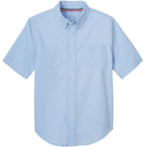 French Toast Boys' Stretch Oxford Short Sleeve Shirt