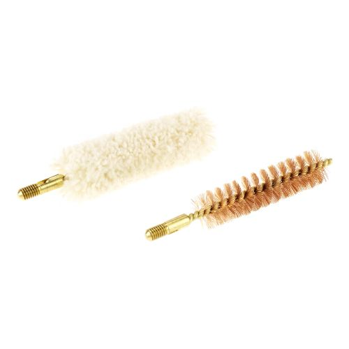 Traditions .50 Caliber Bronze Bristle Bore Brush and Cotton Swab Set