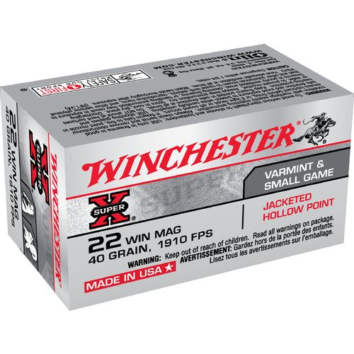 Winchester Super-X® .22 Winchester Magnum Jacketed Hollow-Point Ammunition