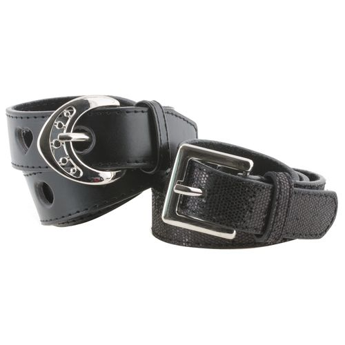 Austin Trading Co. Girls' Leather Belts 2-Pack