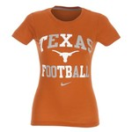 Nike Women's University of Texas Gridiron Short Sleeve T-shirt