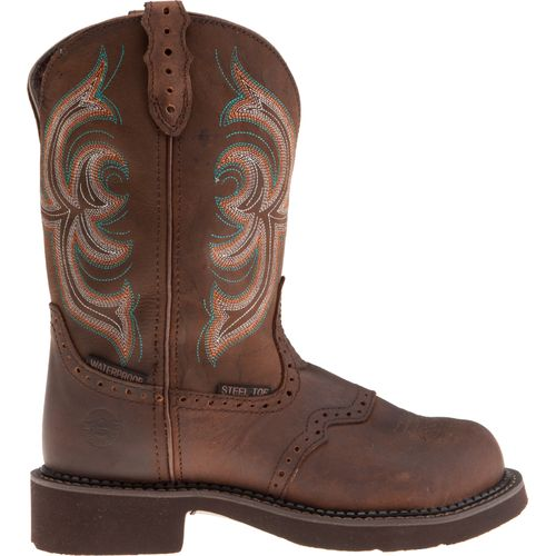 Display product reviews for Justin Women's Gypsy® Aged Bark Waterproof Steel Toe Western Work Boots