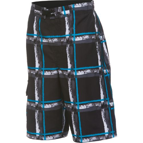 O'Rageous® Boys' Paintbrush Plaid Boardshort