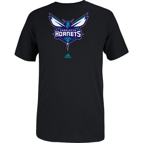 adidas Men s Charlotte Hornets Full Primary Logo T-shirt